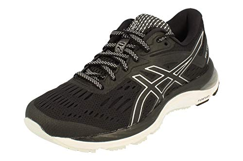 Asics Gel-Cumulus 20 Mujeres Running Trainers 1012A008 Sneakers Zapatos (UK 3 US 5 EU 35.5, Black White 001)