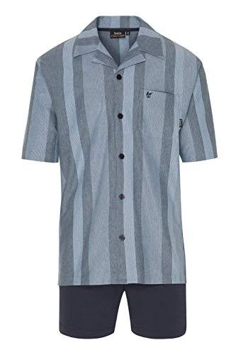 Hajo Klima Komfort Herren Shorty Durchgeknöpft Farbe: Blau Gr. 60