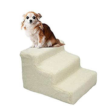 YOFIT Doggy Steps - Non-Slip 3 Steps Pet Stairs,Holds Up to 70 lbs