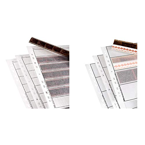 Hama Negative Sleeves, 24 x 36 mm, Glassine Matt, 310 mm, 260 mm (Importado) + Negative Sleeves, 6 x 9 cm, Glassine Matt, 300 mm, 230 mm (Importado)