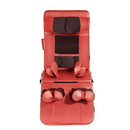 Best Price ZJ- Massage Cushion Massage Cushion, Full Body Massage Mattress Multi-Function Massage Cushion Pad Cervical Massager Shoulder Leg Waist Massager Foldable Segmentation Massager Red Massage Mat