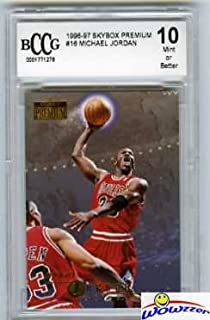 e06a49822e2 1996 Skybox Premium #16 Michael Jordan Graded BECKETT 10 MINT Chicago Bulls  HOF!! Awesome HIGH GRADE Card of Legendary Chicago Bulls Hall of Famer!
