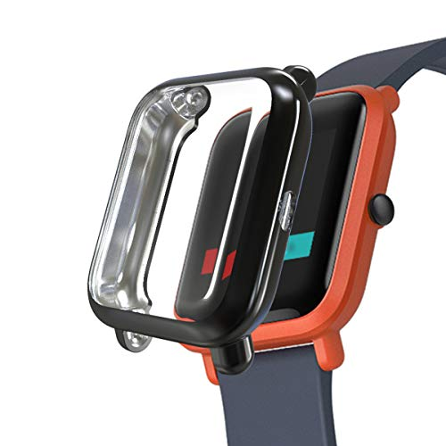 iHYQ for Amazfit Bip Screen Protector Case,TPU Plated All-Round Cover Scratch-Proof Protective Bumper for Huami Amazfit Bip Smartwatch Accessory