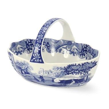 SPODE BLUE ITALIAN Small handled basket 6