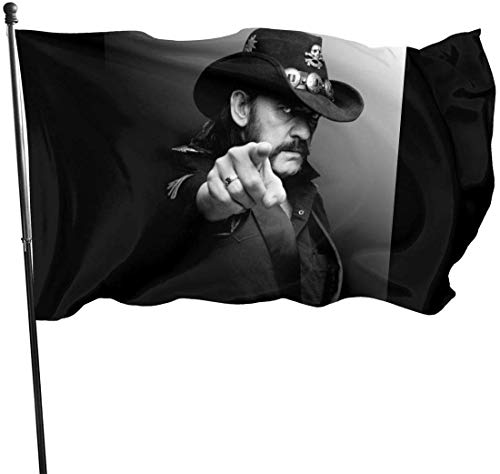 Oaqueen Lemmy Kilmister Stylish Music Band Seasonal Flagge/Fahne Set for Outdoors Easter Spring Summer Welcome Yard Decor Decoration
