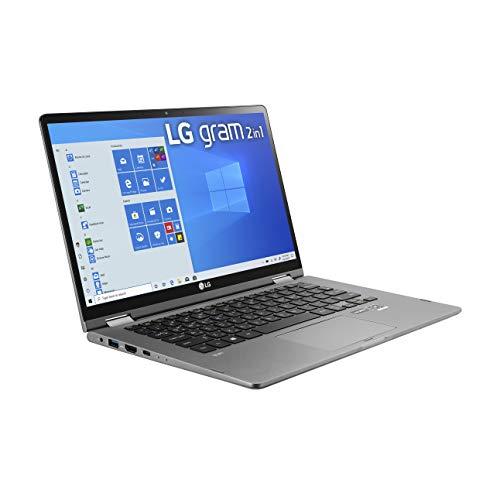LG Gram 2-in-1 Convertible Laptop: 14″ Full HD IPS Touchscreen Display, Intel 10th Gen Core i7-10510U CPU, 16GB RAM, 1TB (512GB x 2) M.2 MVMe SSD, Thunderbolt 3, 20.5 Hour Battery 14T90N (2020)