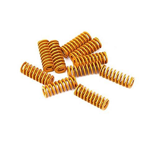 Wohlstand Molde de compresión,Muelles para impresora 3D de 0,39 pulgadas de diámetro exterior de 0,98 pulgadas de longitud, muelles de compresión M3, para Creality CR-10 10S S4 Ender 3,10 piezas