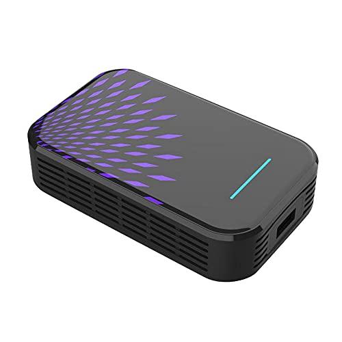 U/H La nueva versión de Carplay inalámbrica, con tarjeta 4+32g, soporta la caja de TV multimedia para coche, soporta más app, violeta