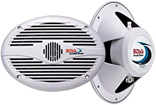 BOSS Audio Systems MR690 350 Watt Per Pair, 6 x 9 Inch, Full Range, 2 Way Weatherproof Marine Speakers Sold in Pairs