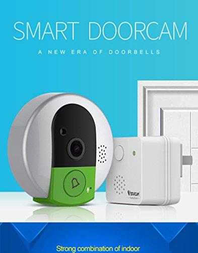 VSTARCAM 720P Scan CMOS Türklingel Wireless Security Audio Video WiFi IP Kamera Nachtsicht Zwei-Wege-Türkamera mit Besucher Kurzzeitaufnahme bekannte Besucherinformationen ohne Tür öffnen UK-Stecker