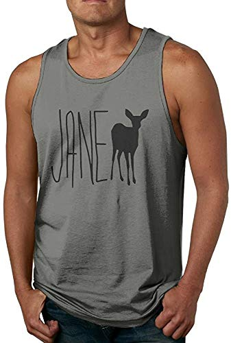 Phggdshfdf Men's Life is Strange - Jane Doe Waistcoat Awesome T-Shirt Deepheather,Deep Heather,Small