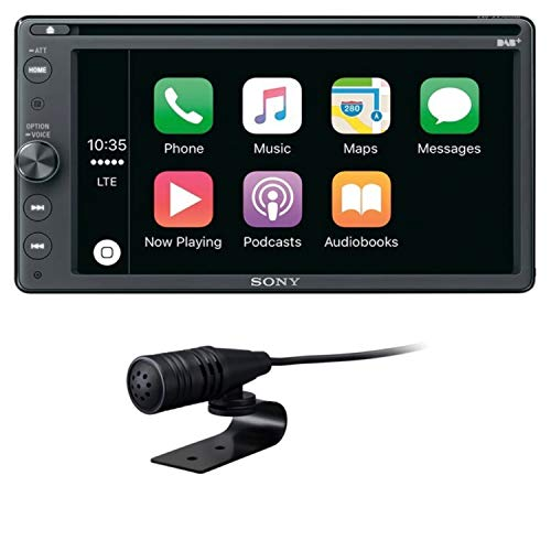 Sony XAV-AX205DB 16, 3 cm, 6, 4 Zoll, Premium DAB plus DVD Media Receiver, Bluetooth, Apple CarPlay/ Android Auto, Navigation