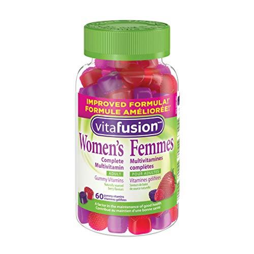 Vitafusion Women's Complete Gummy Multivitamins, Naturally Sourced Berry Flavours, 60 Count