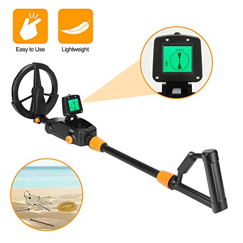 GLOBALDETECTOR Kid's Metal Detector Wand Handheld or Full-Size Handle, Junior Design with Lights and Sounds, Detects Metals, Jewelry, Coins, Beach, Outdoor Use Detectors Metal