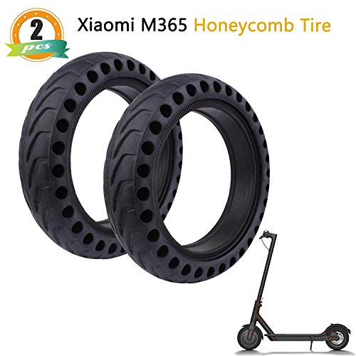 8 1/2 x 2 Solid Tire Honeycomb Hole Solid Tubes Replacement Tires 8.5 Inch Front/Rear Tire Wheel Replacement for Xiaomi M365 Electric Scooter