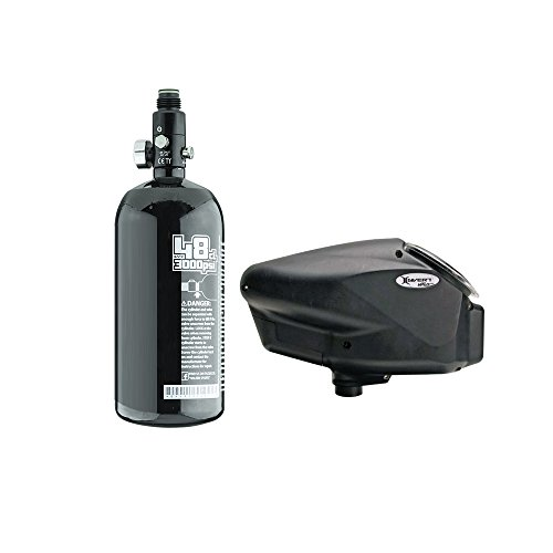 Empire Halo Too Electronic Hopper and Basic 48/3000psi HPA N2 Tank Combo Package