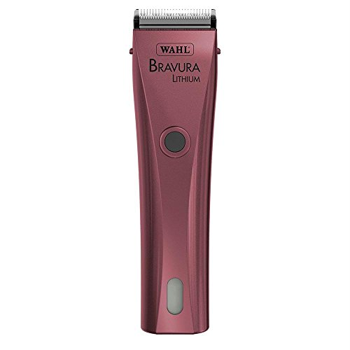 Wahl Professional Animal Bravura Pet, Dog, Cat, and Horse Corded / Cordless Clipper Kit, Pink (#41870-0424)
