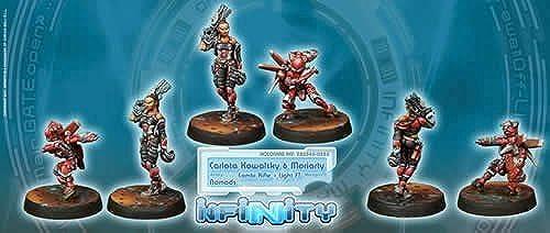 Carlota Kowalsky & Moriarty (2) Nomads Infinity Corvus Belli by Corvus Belli