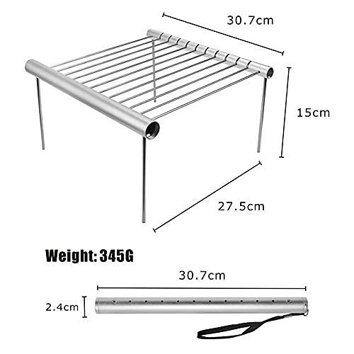 41q7HNDW9DS. SL500  - JLKDF Tragbarer Edelstahlgrill Klappbarer BBQ-Grill Mini-Tasche BBQ-Grill Grillzubehör für den Heimparkgebrauch