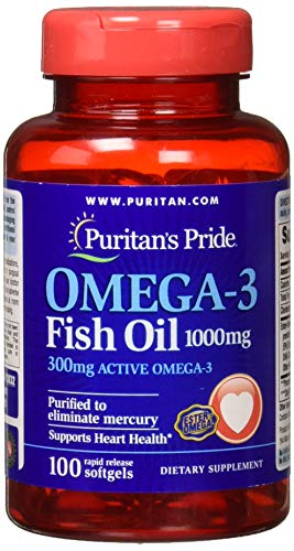 Omega3 Fish Oil 1000mg 100 Capsules Puritan's Pride