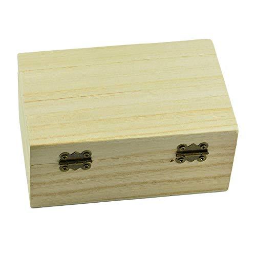 PLBB3K Niñas Joyero Joyería n Cofre del Tesoro de Madera de Almacenamiento Caja de la Memoria del Arte Decoupage Crafts-150x98x69mm Bolsa de Almacenamiento (Color : 125x72x51mm)
