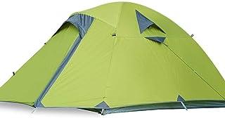 WBHD Stor tipi-tält barnplaner-campingtält, 3-personer-dubbelskikt-luftfart-aluminiumstång, andas vindtätt solskydd för ut...