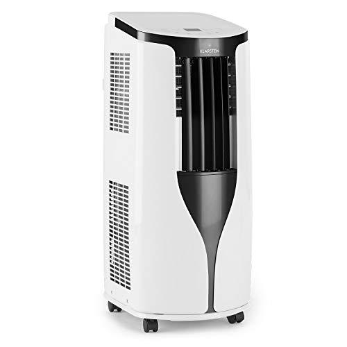 KLARSTEIN New Breeze ECO - Climatiseur Mobile, Déshumidificateur, Ventilateur, 10000BTU/h, 2,9KW, De 16 à 30°C, Ecran LED, Fonction minuterie programmable, Kit de calfeutrage, Télécommande - Blanc