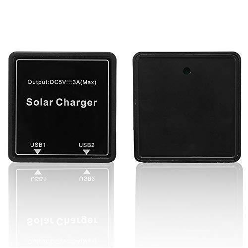 CocinaCo DIY Solar Wire Box 5-20V to 5V 3A Regulator Solar Double USB Junction Box for Solar Panel