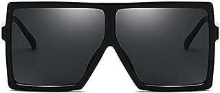 Fashion Square Large Frame Sunglasses Men and Women Eyewear UV400 Black Driving