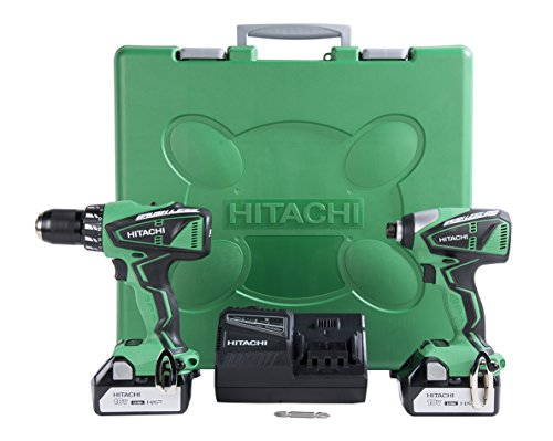 Hitachi KC18DBFL 18V Lithium Ion Brushless Hammer Drill and Impact Driver (DV18DBFL...