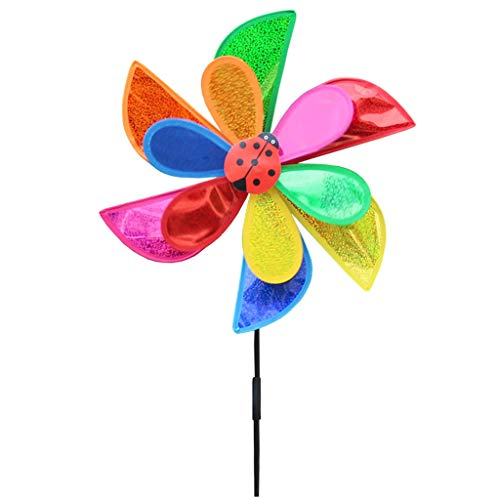 Sac de rangement AXSWER éolienne pour jardin, double couche à paillettes, moulin à vent, éolienne, décoration de maison, jardin, cour, etc.