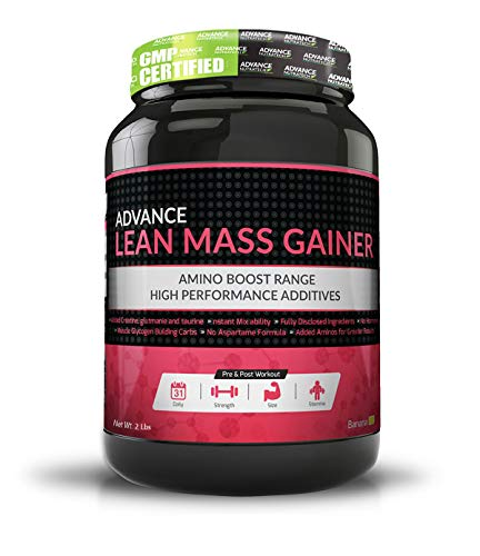 Advance Nutratech Lean Mass Gainer Supplement Powder - 2 Lbs (Rich Banana Cream)