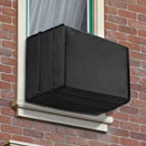 Air Jade Outside Window Air Conditioner Cover, 25 W x 17 H x 21 D inches Waterproof Covers in Black for Outdoor A/C Unit, Heavy Duty Defender and Bottom Covered