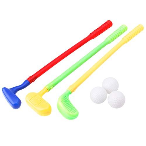 Heylas 3 Golfschläger für Kinder aus Plastik, Golf Set für Kinder Minigolf Spielzeug Golfset, Spiel für Frühe Entwicklung Pädagogische Vorschule Spielzeug