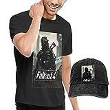 jxzo t-shirt girocollo e berretto da baseball da uomo fall-out 4 cappello da papà