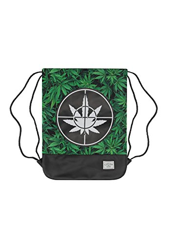 Cayler & Sons Gymbag DEFEND YOUR CROPS Green Leaves Black
