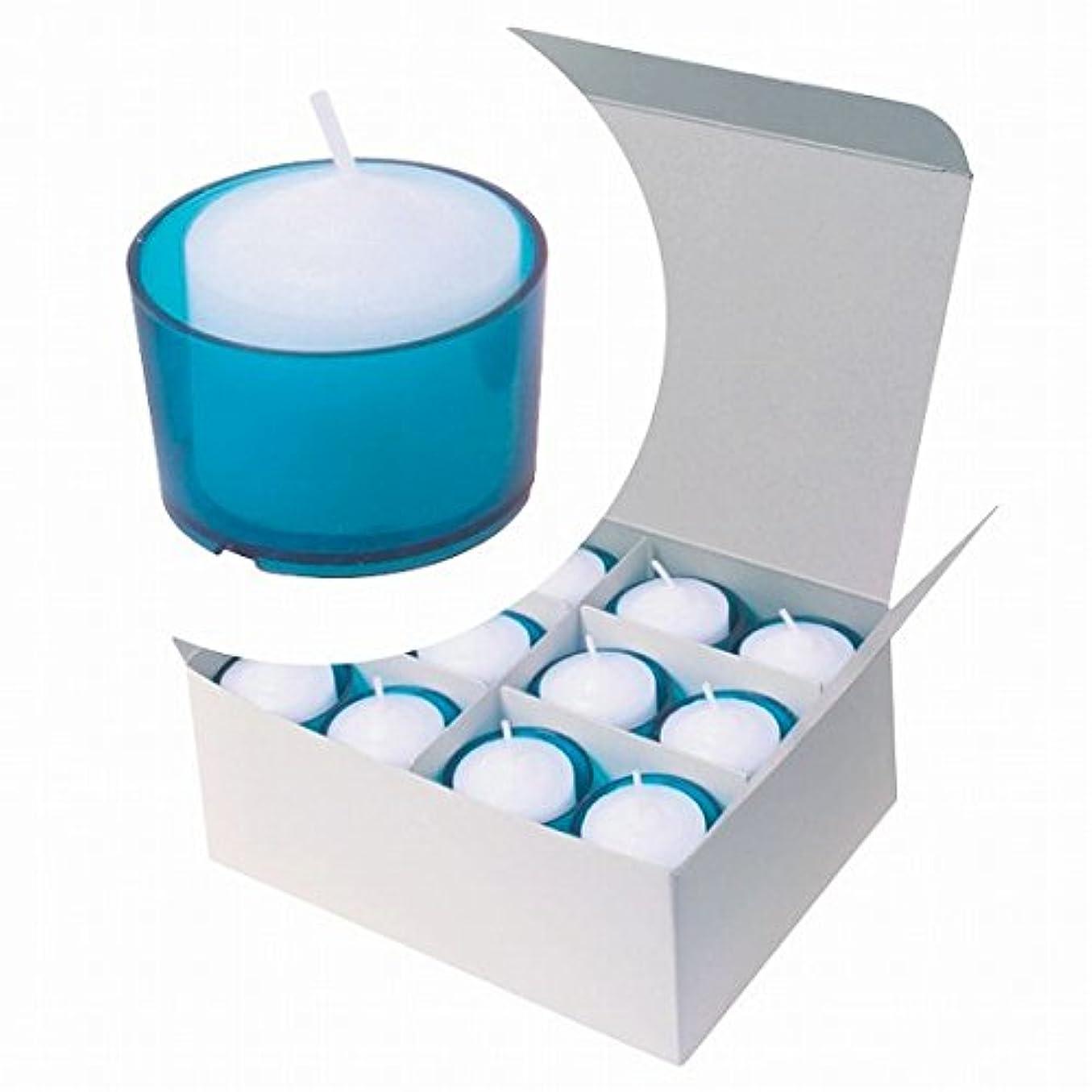 直径休戦びんカメヤマキャンドル(kameyama candle) カラークリアカップボーティブ6時間タイプ 24個入り 「 ブルー 」