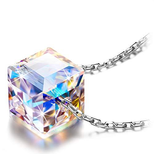 Alex Perry Regalo mujer collares cadena de plata mujer cristal Austria joyas para mujer regalos mujer collares para boda niñas novia regalo para mujer