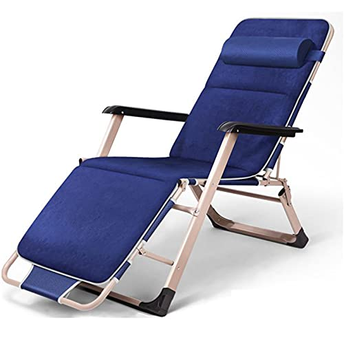 Tumbona sillas de jardín plegable reclinable doble propósito como camas se expanden con almohadilla de pie para playa