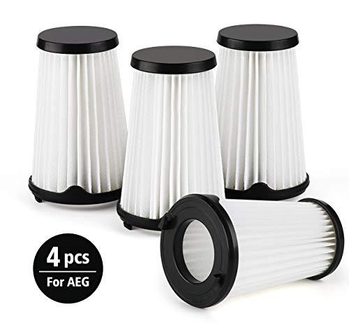 Agoer Staubsauger Filter Kompatibel mit allen AEG CX7 CX7-2 Staubsauger, 4 Stück Ersatzfilter für AEG Ergorapido Modelle AEF150