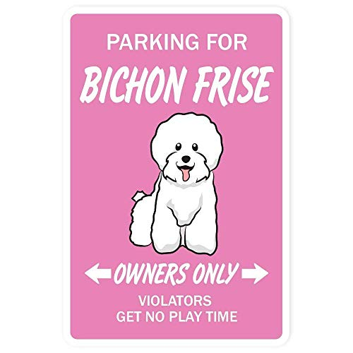 GONGXIAMI SIERTH Bichon - Placa de metal para pared, diseño retro