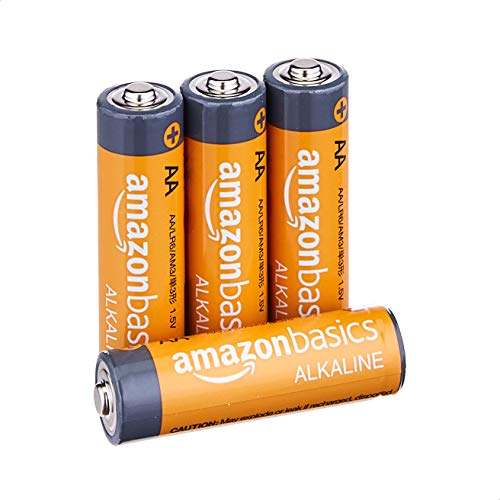 AmazonBasics AA 1.5 Volt Performance Alkaline Batteries - Pack of 4