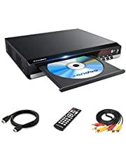 Sandoo DVDプレーヤー DVD/CD再生専用モデル HDMI端子搭載 CPRM対応、録畫した番組や地上デジタル放送を再生する、USB、Mic対応、AV / HDMIケーブルが付屬し、テレビに接続できます、リモコン、日本語説明書付き 【メーカー18ヶ月保証】MP2206