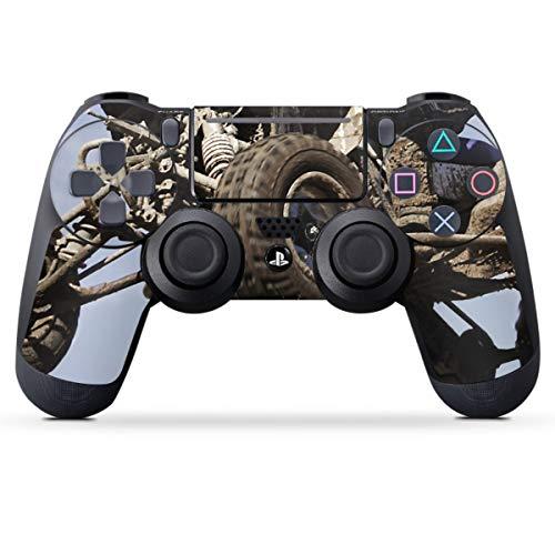 DeinDesign Skin kompatibel mit Sony Playstation 4 PS4 Slim Controller Folie Sticker Quad Motorsport Sport