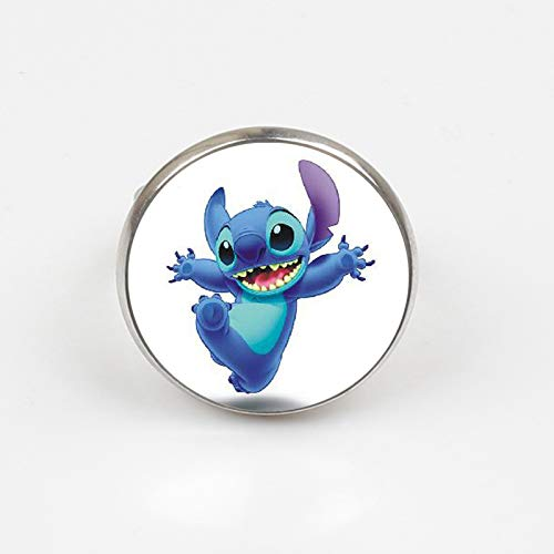 Ring mit blauem Stich und Kobold, handgefertigt, Silberring, Glaskuppel, Geschenk für Mädchen