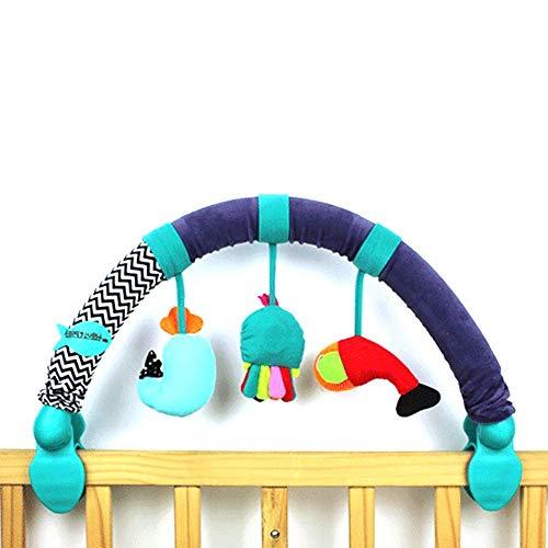 Starte Lit Bébé Suspendu Jouet, Pinces De Fixation Universelles Poussette Lit Bébé Suspendu Jouet Pendentif Arc Pendentif en Forme d'animal Jouets Lit Poussette Accessoires, 0 Mois +