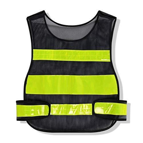 Reflecterend vest hoge zichtbaarheid veiligheid reflecterende vest vest reflecterende strepen jas Motor reflecterende veiligheid kleding Zwart