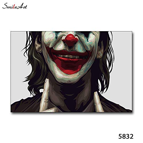 PSpXU Nuevo Joker por qué Tan serios Carteles e Impresiones Arte de la Pared Pintura de la Lona para la decoración del hogar Decoración de la Pared Imagen en la Pared-Sin marco-40X60cm