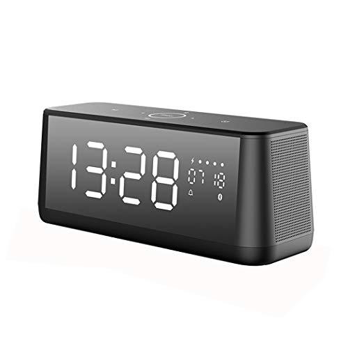 QAR Bluetooth-Lautsprecher Super Bass Alarm Sound Desktop-Computer Spiegel Sound Wireless Subwoofer Audio Audio (Color : Black)