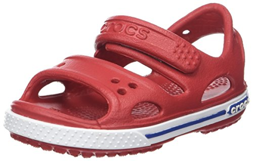Crocs Crocband Ii Sandal Ps K, Unisex-Kinder Sandalen, Rot (Pepper/blue Jean), 24-25 EU (8 UK)